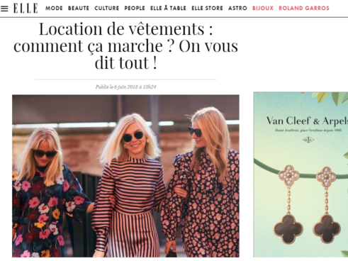 Elle.fr is interested in rental clothing and talks about it!