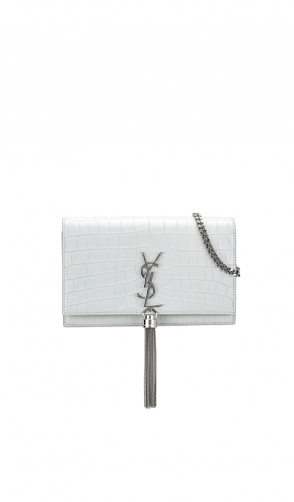 Location sac Saint Laurent Mini kate croco - Une Robe Un Soir