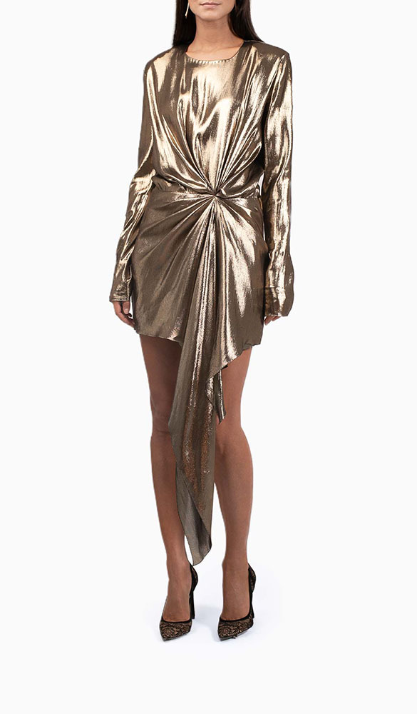 Location Robe Saint Laurent Gold - Une Robe Un Soir