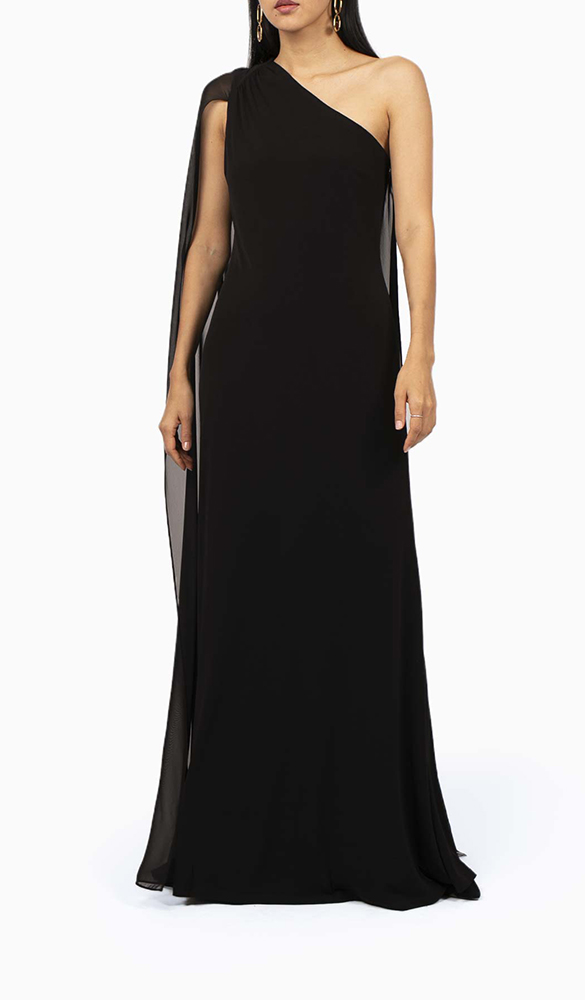Location robe Calvin Klein Asymétrique - Une Robe Un Soir