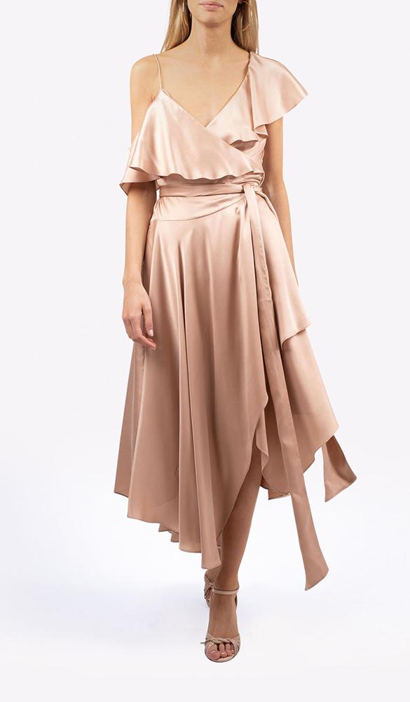 Location robe Zimmermann Wrap Rose - Une Robe Un Soir