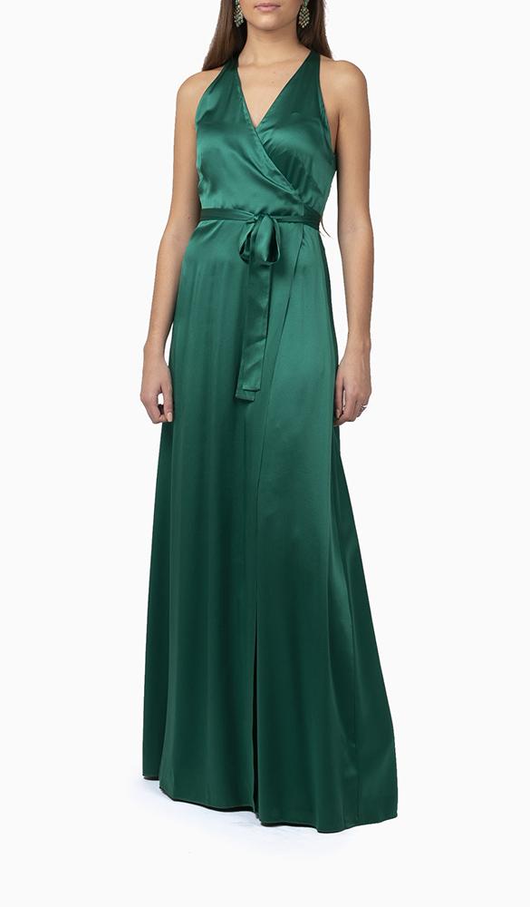 Location robe Diane Von Furstenberg Green Wrap - Une Robe Un Soir