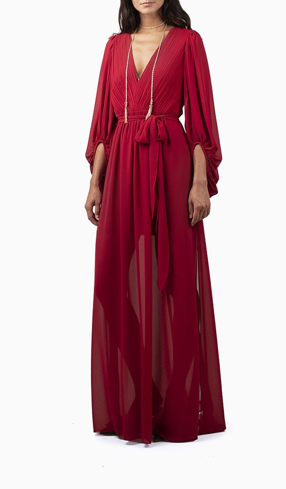 Location robe Halston Héritage Fortuny Longue - Une Robe Un Soir