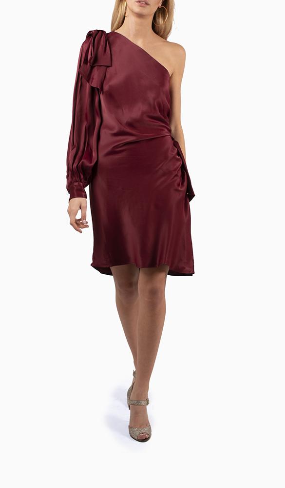 Location robe Zimmermann Maples Bow Burgundy - Une Robe Un Soir