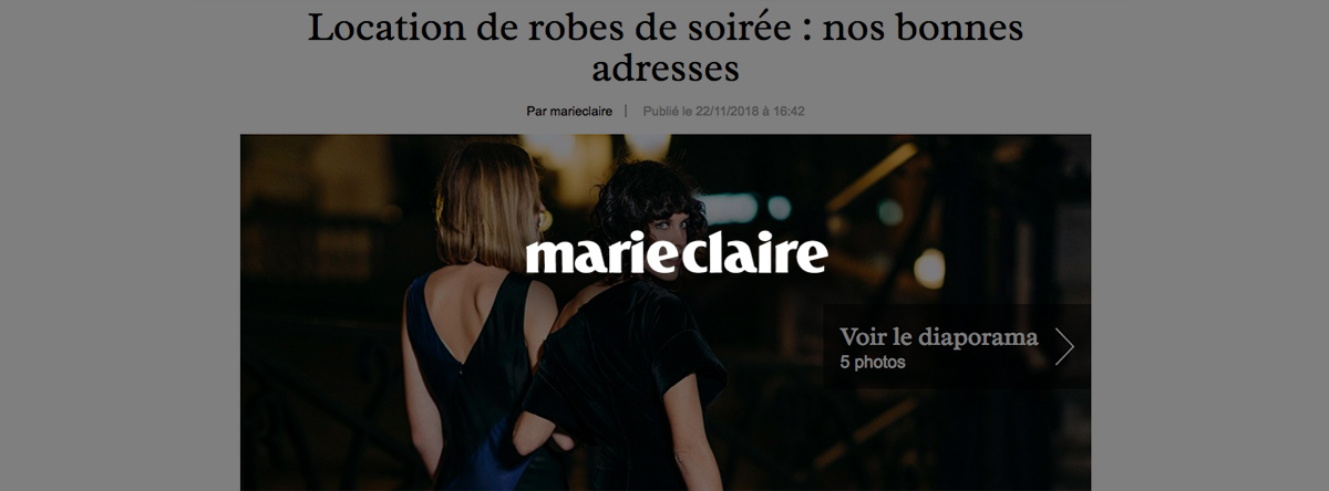 Robe soiree marie claire