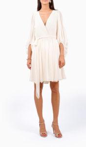 Location robe Halston Héritage Fortuny Courte - Une Robe Un Soir