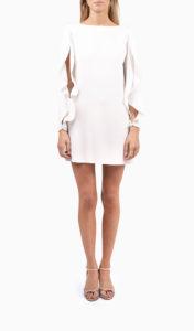 Location robe Elisabetta Franchi Sartorial Blanche - Une Robe Un Soir