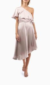 Location robe Zimmermann One Shoulder Rose - Une Robe Un Soir